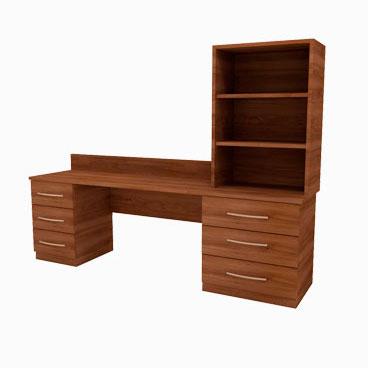 Twin Pedestal Desk - Wordsworth