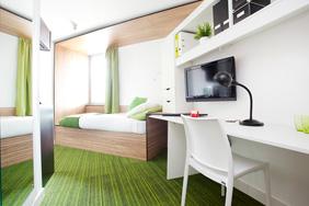 University Bedroom - White Laminate
