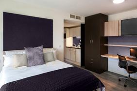 University Bedroom - Black and Beech