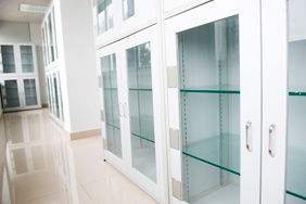 Laboratory Furniture - White Glass Shelves