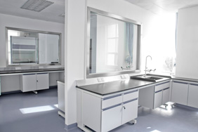 Laboratory Furniture - White Melamine Cabinets