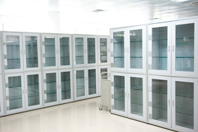 Laboratory Furniture - White Glass Cabinets