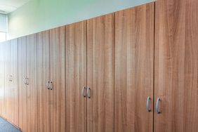 University Lockers - Cherry Wood