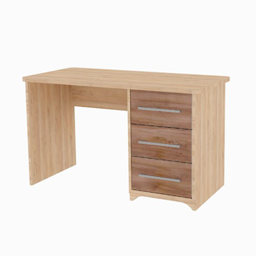 Single Pedestal Desk - Jasmine