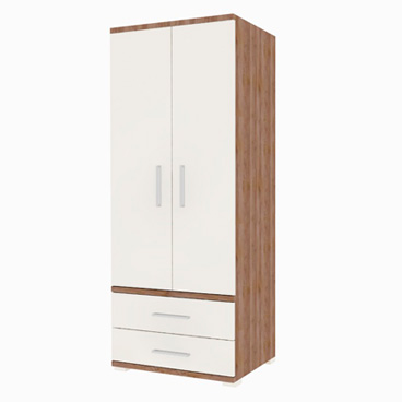 2 Drawer, Double Wardrobe - Lily