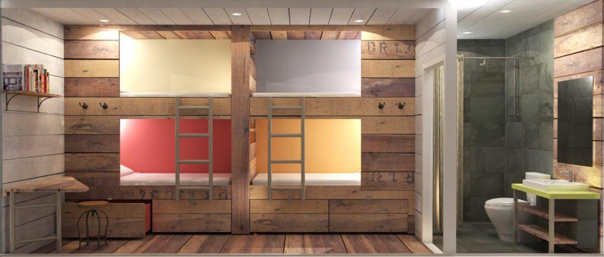 Student University Rustic Bunk Beds