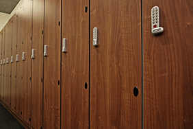 University Lockers - large-wooden-lockers-with-keypad