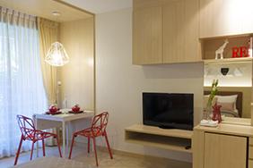 University Bedroom - small-student-bedroom-design-light-wood-casegoods