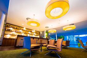 Bespoke University Bar - Blue Mood Lighting