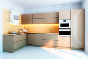 University Kitchen - Gloss Minimalist