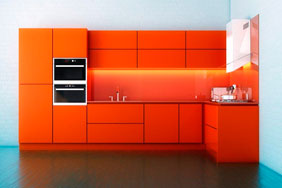 University Kitchen - Orange Block