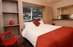 University Bedroom - City Scape