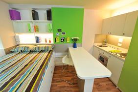 University Bedroom - Open Shelving