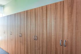 University Lockers - Cherry Wood