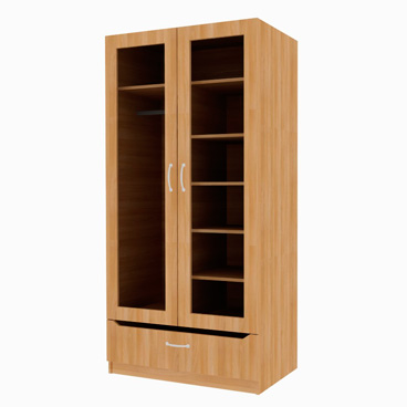 1 Drawer Wardrobe with Shelves