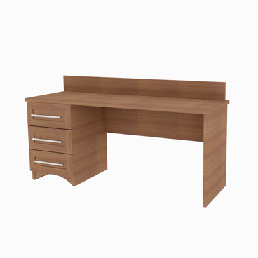 Desk with three drawers - Heather