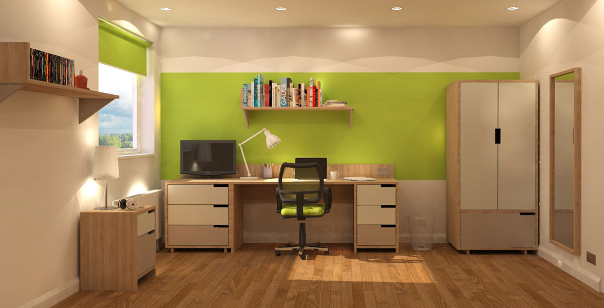 Desk Storage in Student Accommodation