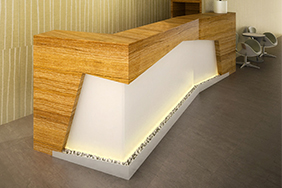 University Reception - contemporary-reception-desk