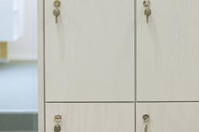 University Lockers - light-wood-lockers-with-keys
