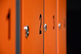University Lockers - orange-lockers-with-numbers