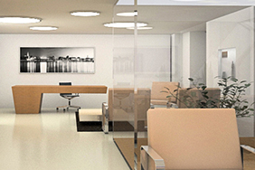 University Reception - simple-wood-reception-desk