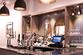Bespoke University Bar - small-bar-counter-with-coat-hooks