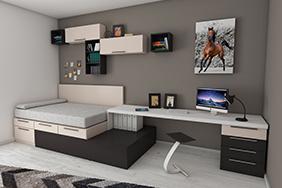 University Bedroom - student-accommodation-joinery